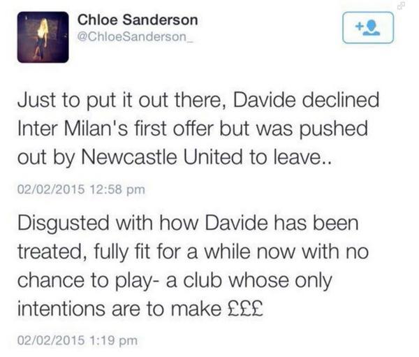 Chole Sanderson Twitter
