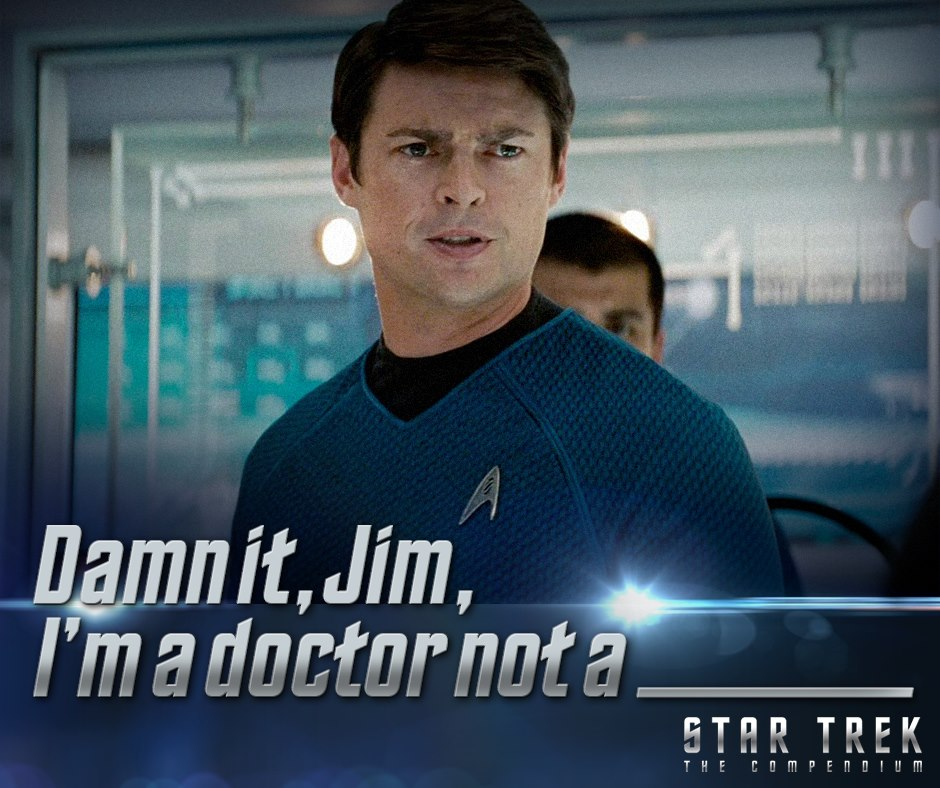 Dr. Leonard McCoy in Star Trek
