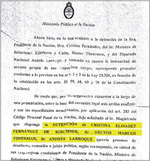 Nisman warrant