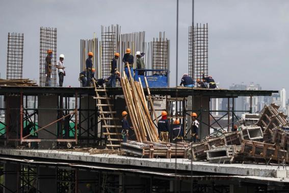 Construction site in Bangkok, Thailand.