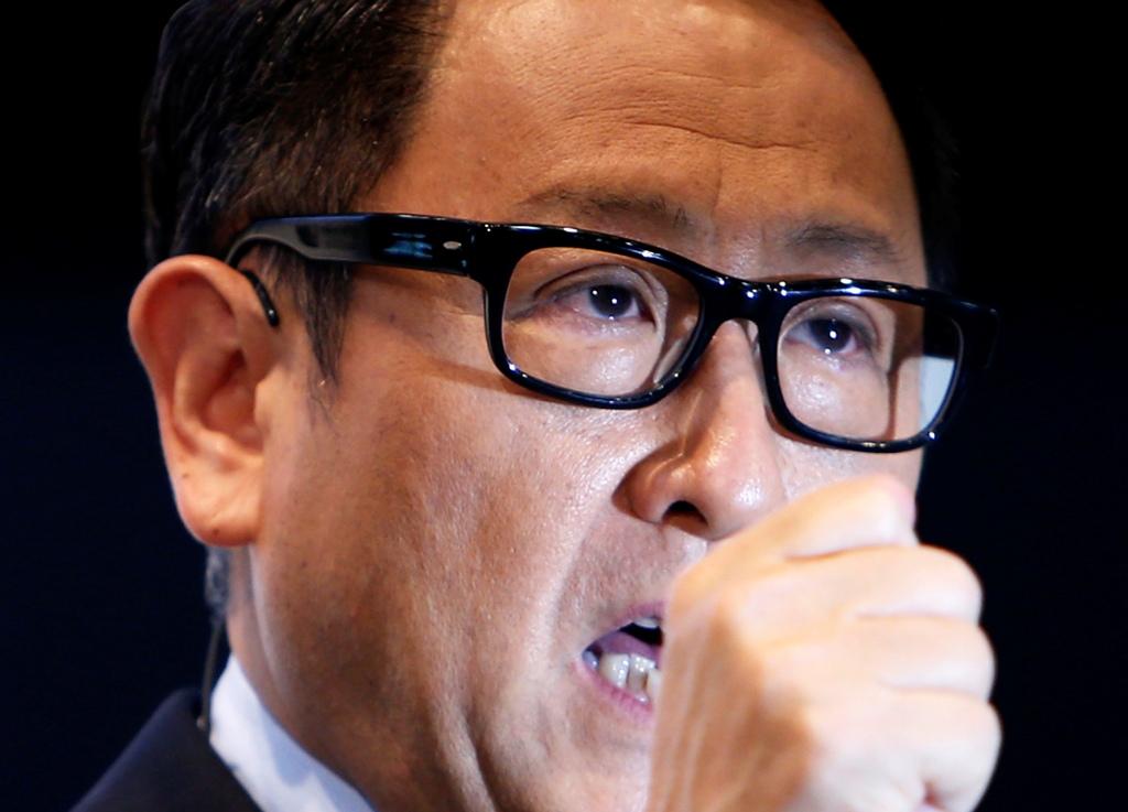 Toyota Motor Boss Akio Toyoda.