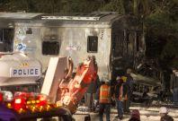 New York train crash kills at least seven at level crossing