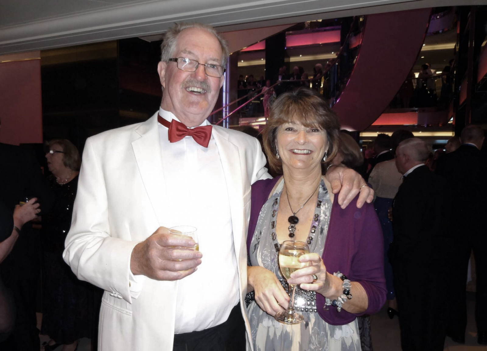 Morgan Wiles (left) and his wife Pat. Morgan managed to beat stage four malignant melanoma despite his age and the odds against him