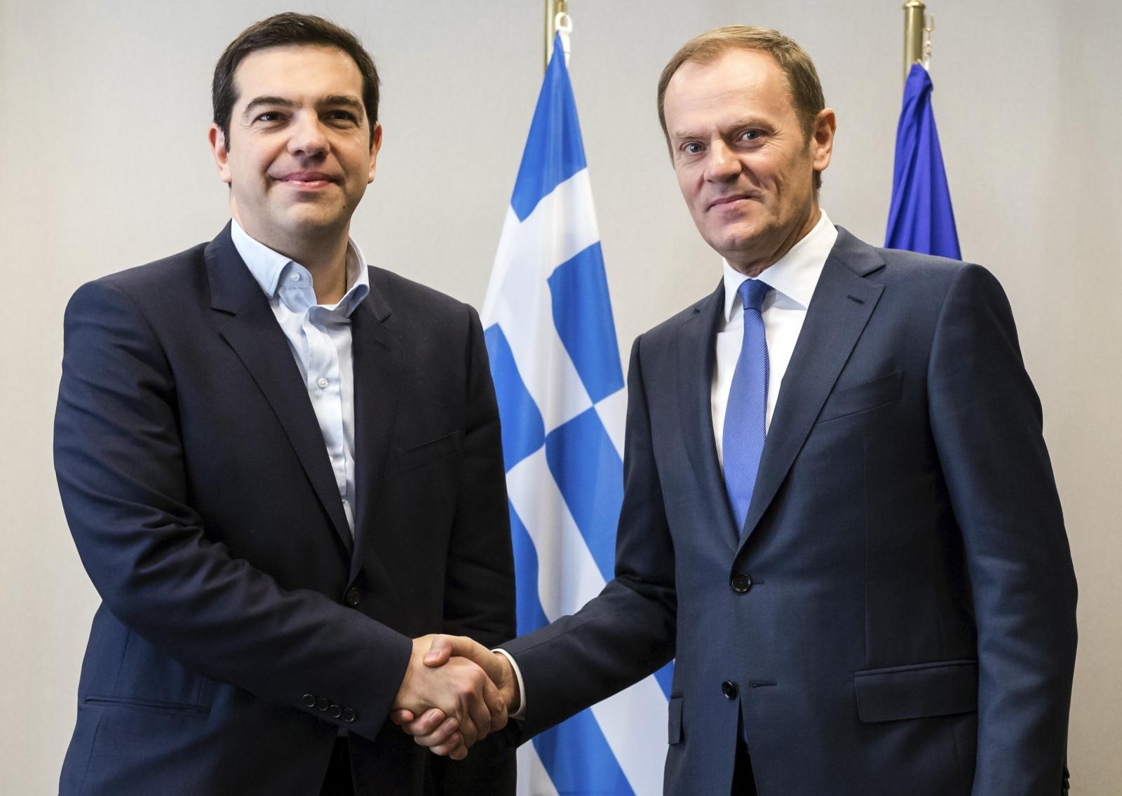 Alexis Tsipras Donald Tusk