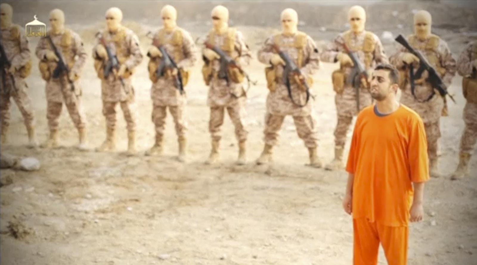 Jordanian pilot Muath al-Kasaesbeh burned alive