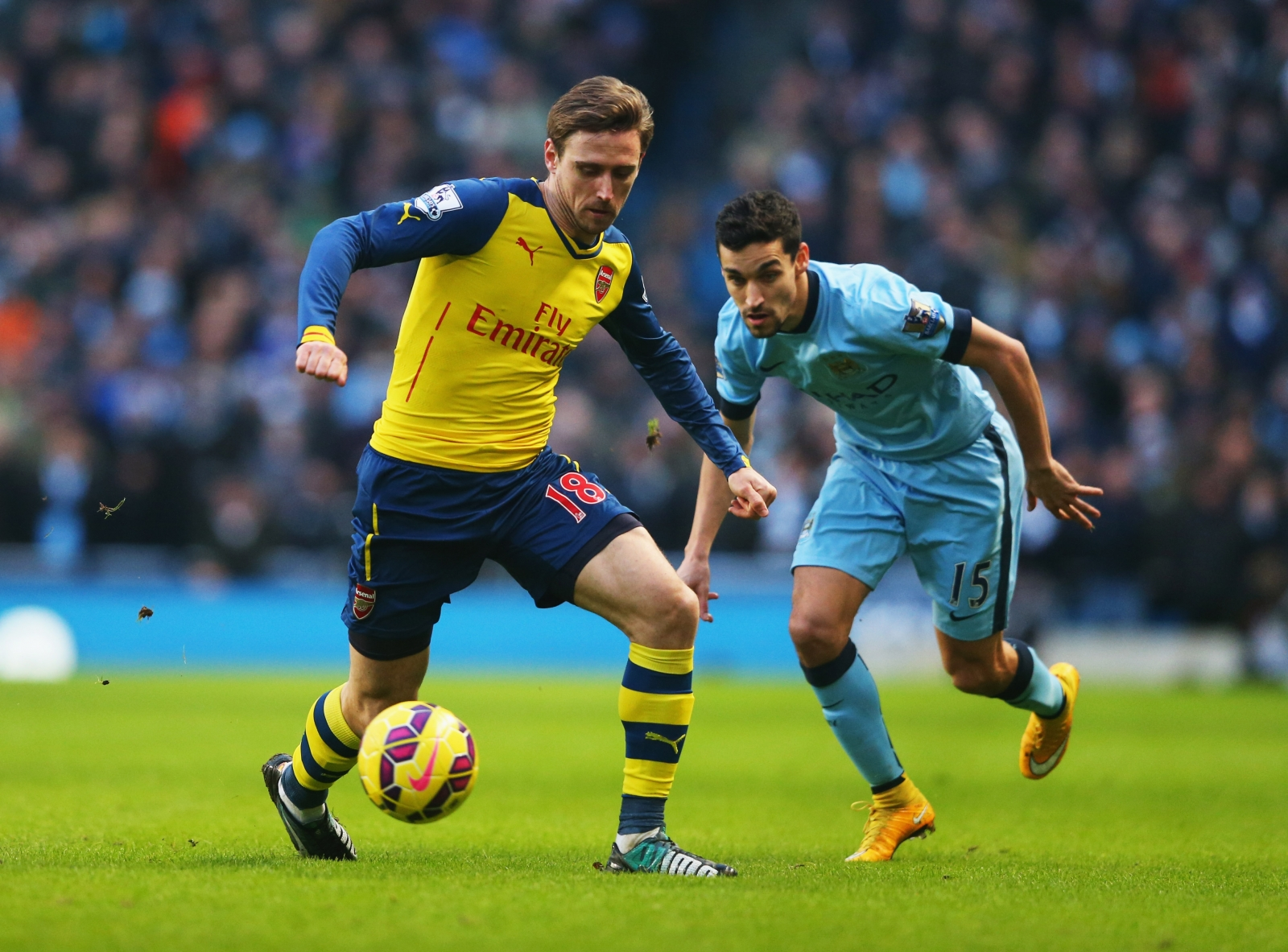 Nacho Monreal playing for Arsenal