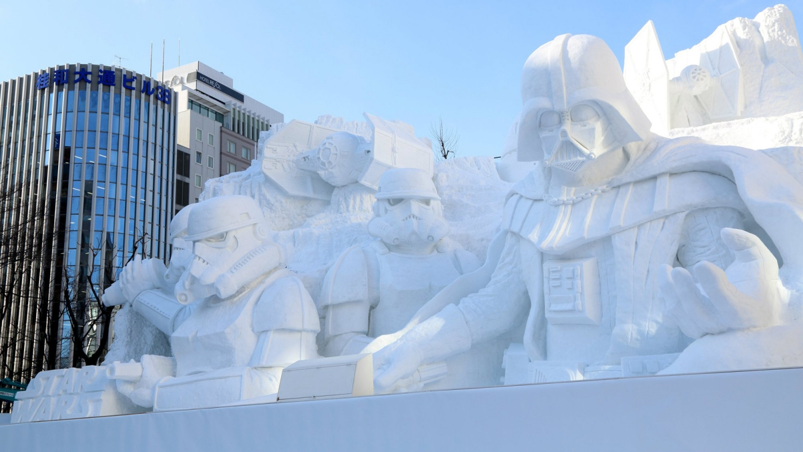 Star Wars and Frozen characters featured in Japan's snow festival