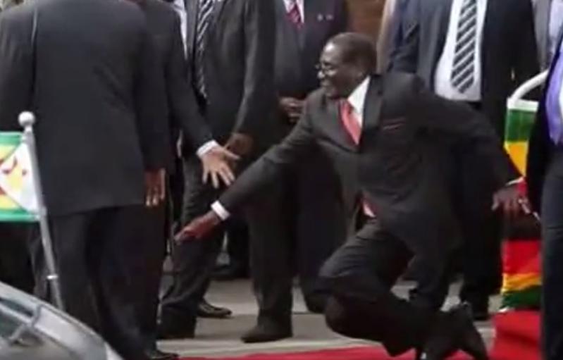 Mugabe falls
