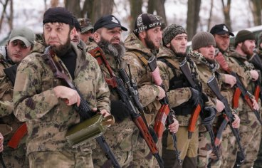 Pro-Russian separatists from the Chechen \