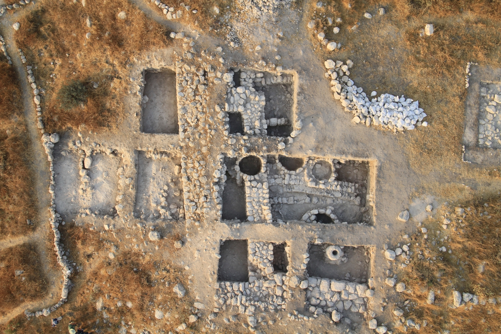 Aerial shot of the fortifications found at Tel Burna. Archaeologists believe this could be the site of Libnah, which is mentioned in the Bible