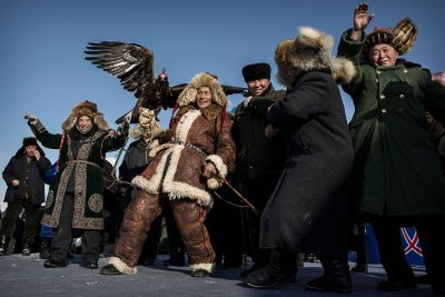 Kazakh eagle hunters China