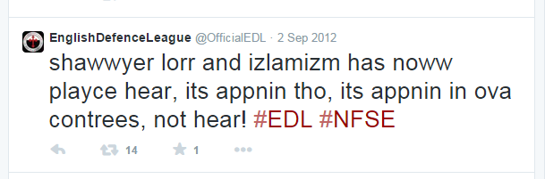 EDL Twitter feed hacked