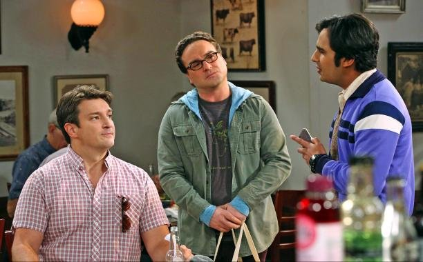 The big bang theory season 8 episode 15 Nathan Fillion  guest stars