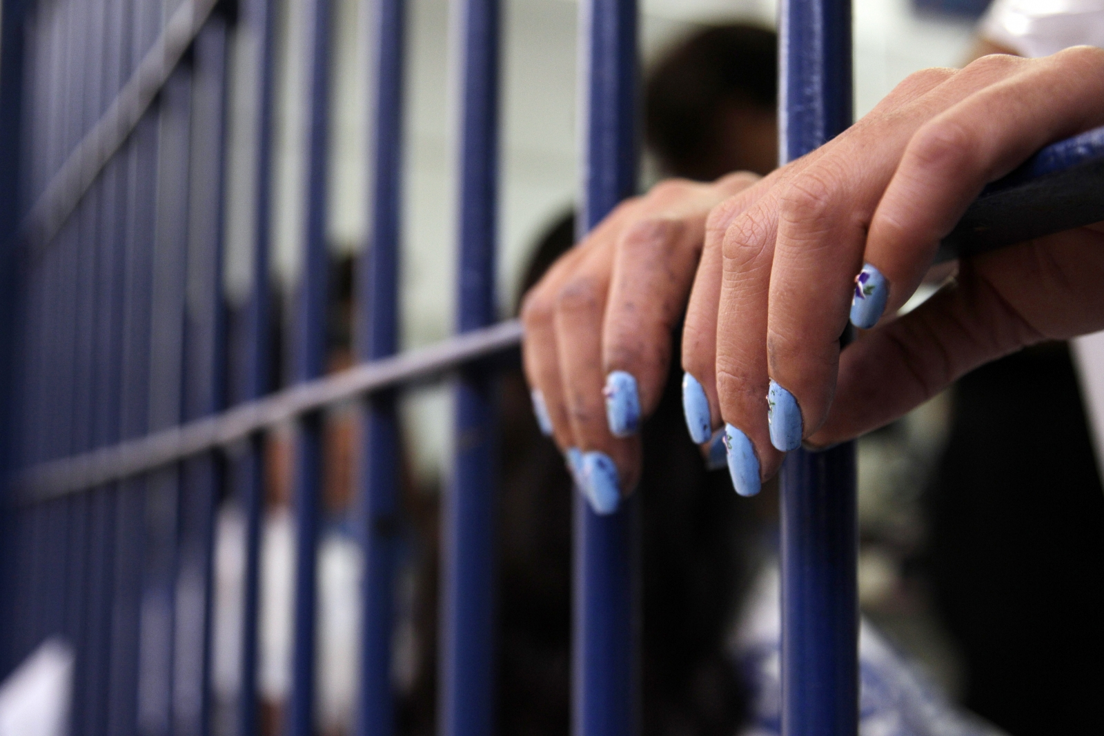 an inmate of the Women's Prison of Brasilia during preparations for the third annual beauty pageant titled Miss Penitentiary