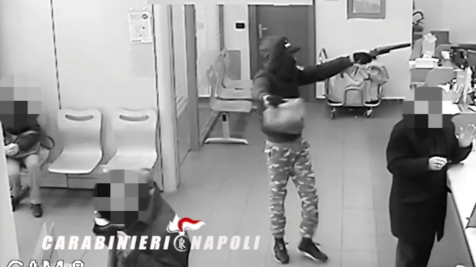 Italian mother caught on camera 'using' 10-year-old son in Naples armed robbery