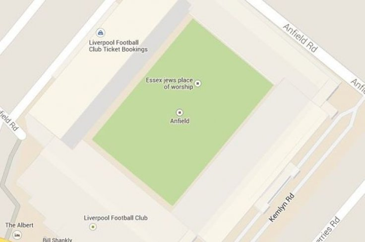 Anfield on Google Maps