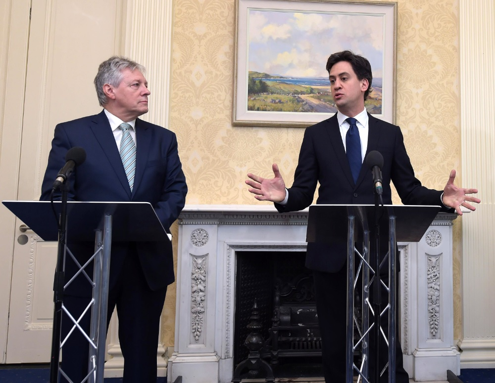 Ed Miliband and Peter Robinson