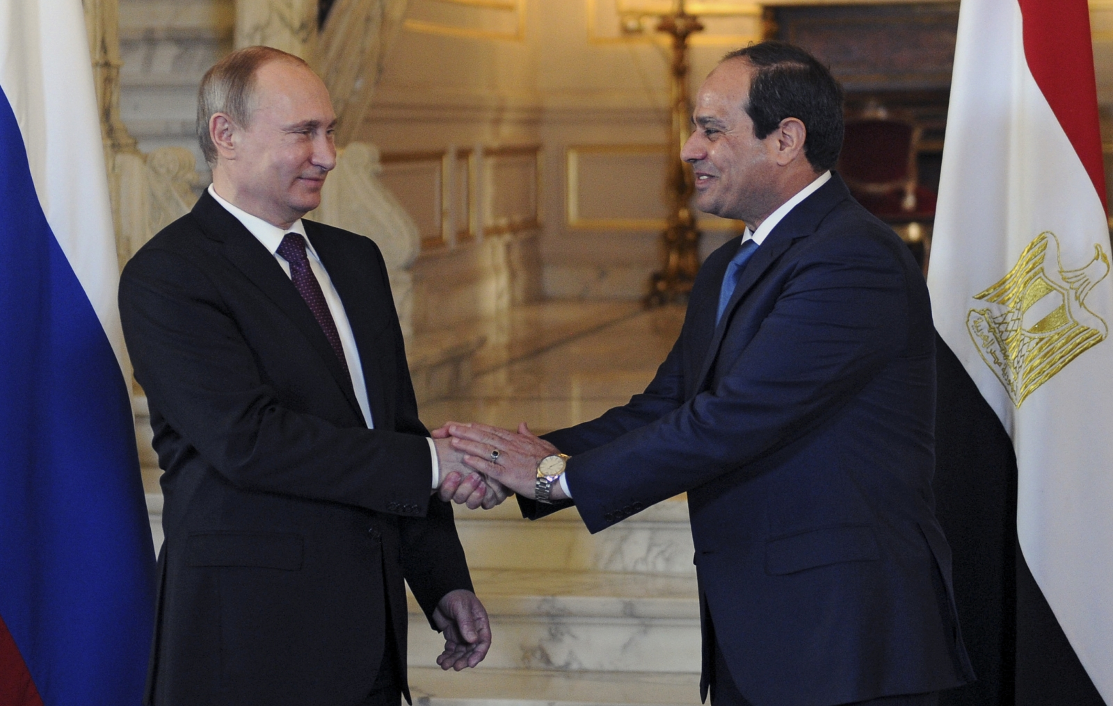 Vladimir Putin Abdel Fattah al-Sisi