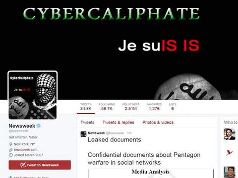 Newsweek's Twitter account was hacked by the CyberCaliphate.