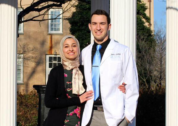 Deah Barakat and his wife Yusor