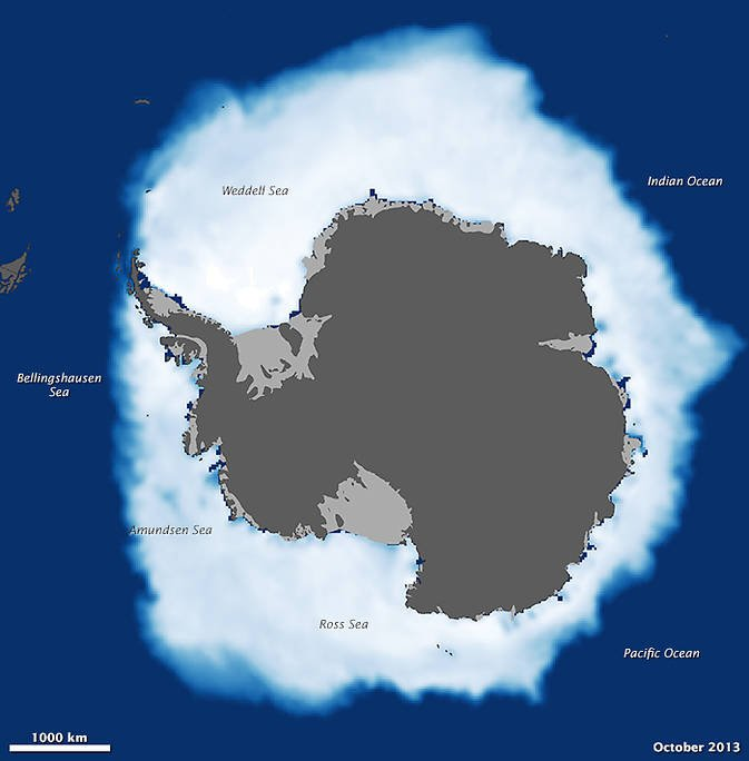 Antarctic sea ice after