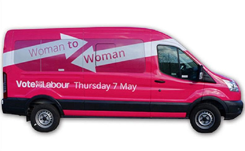 Labour's pink bus campaign