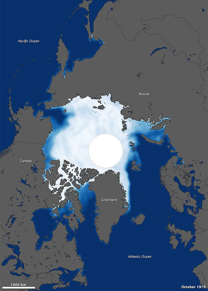 Arctic sea ice before