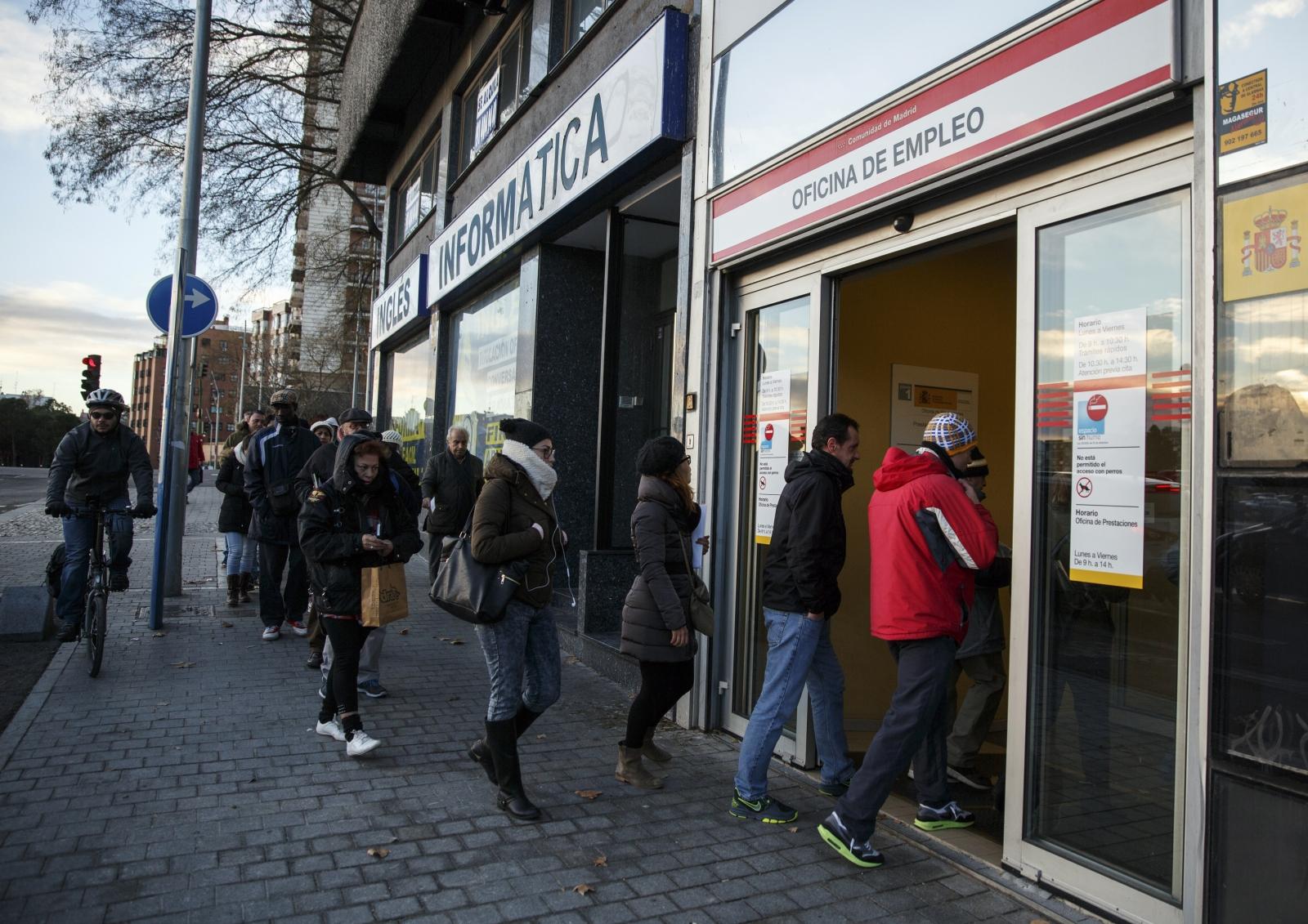 Unemployment in Madrid, Spain