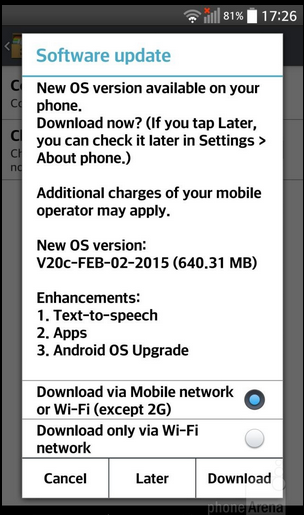 LG G Pro 2 starts receiving Android 5.0.1 Lollipop OTA update in Europe