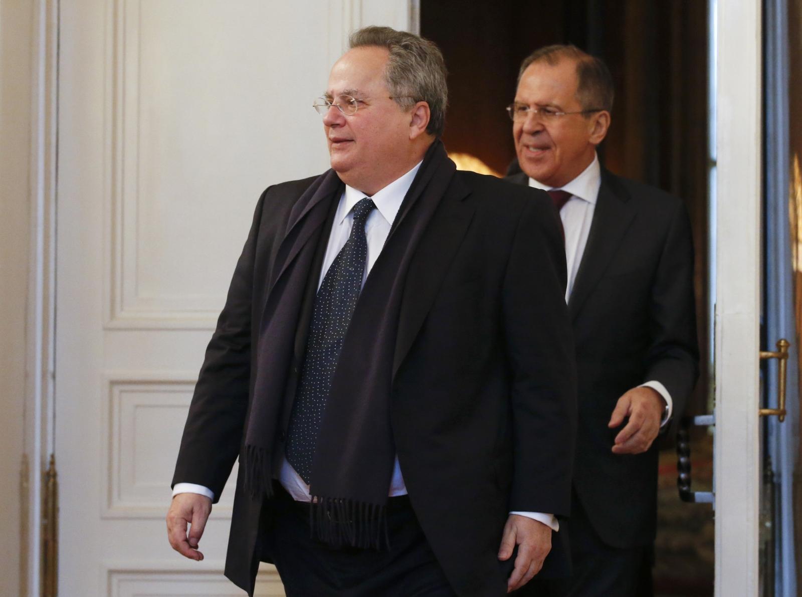 Nikos Kotzias Sergei Lavrov