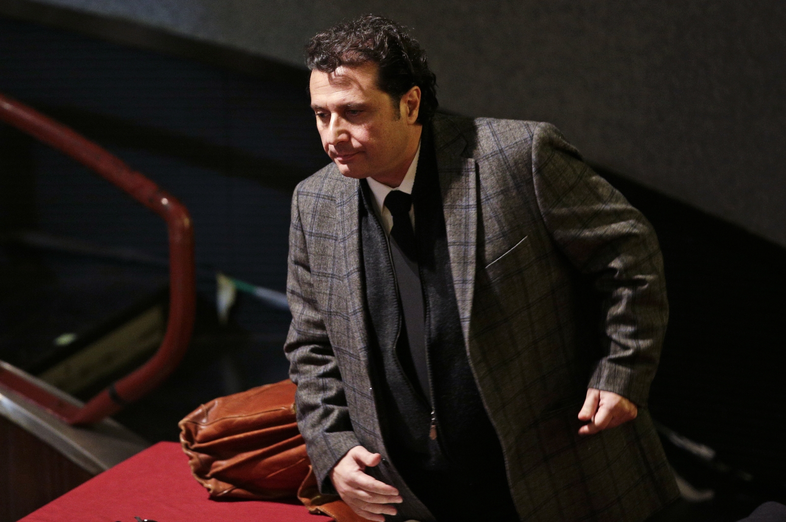 Captain of the Costa Concordia cruise liner Francesco Schettino Tiral sobs