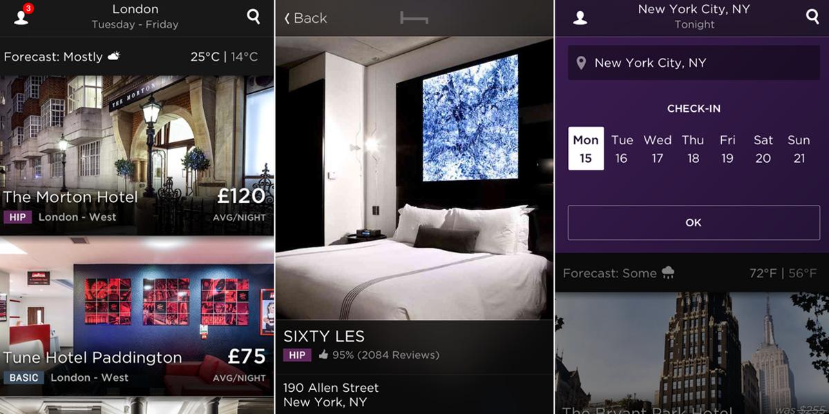 Hotel Tonight Last Minute App iOS Android