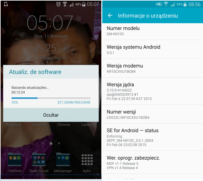Official Android 5.0.1 Lollipop update rolls out for Galaxy Note 4 Exynos (SM-910C)