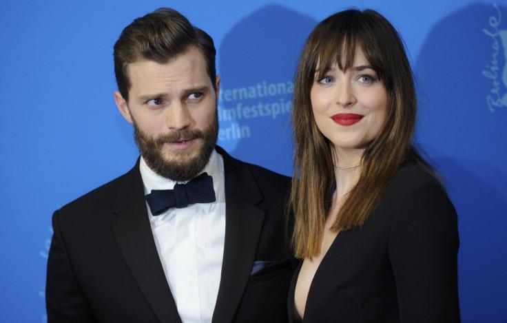 Jamie Dornand and Dakota Johnson in Fifty Shades of Grey