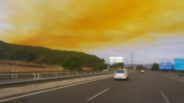 Toxic orange cloud spreads after chemical blast near Barcelona