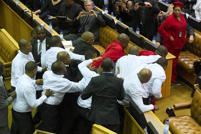 EFF Zuma clash