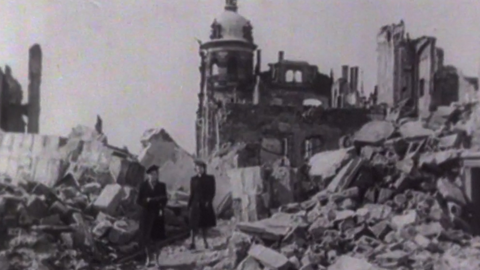 dresden bombing 70th anniversary archive footage of controversial