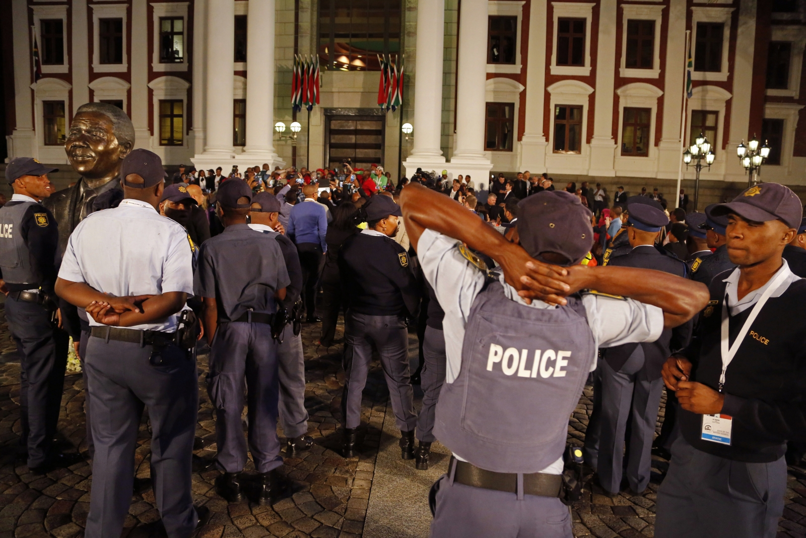 South Africa Zuma police