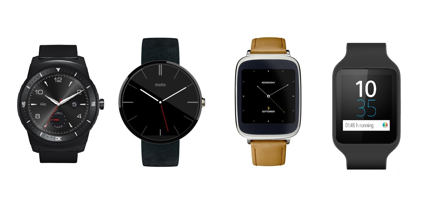 Android Wear smartwatch Asus Moto Sony LG
