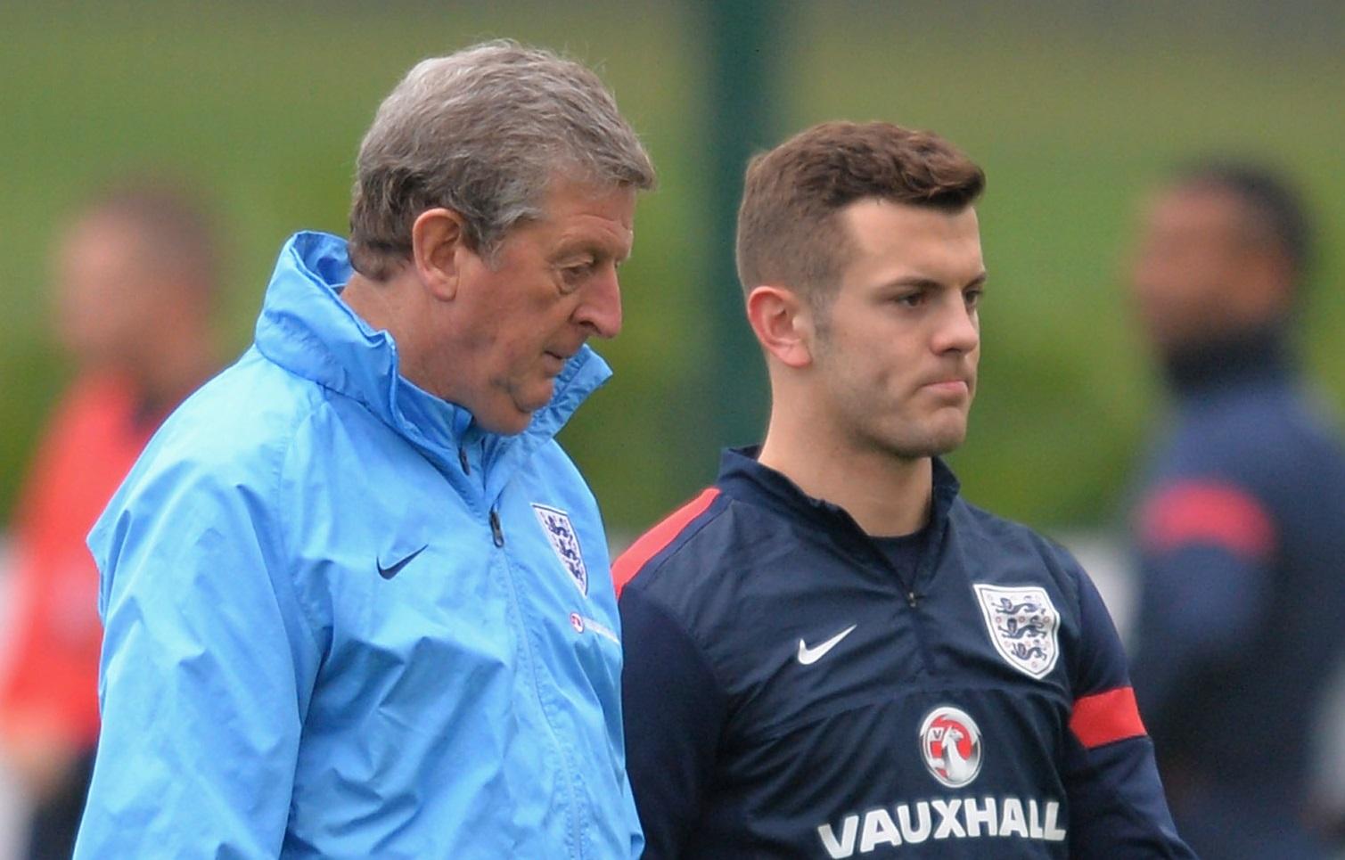 Roy Hodgson and Jack Wilshere