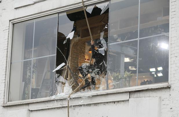 Watch: Bear Grylls smashes through the studio window of This Morning