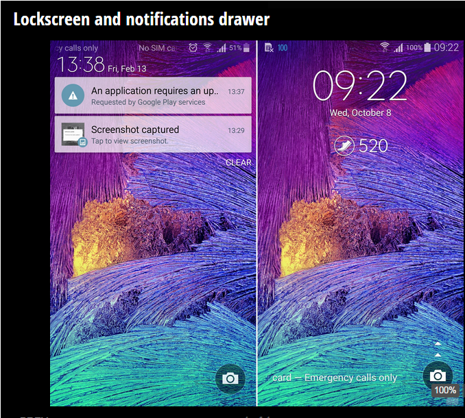 Galaxy Note 4: Android 5.0 Lollipop vs Android 4.4.4 KitKat UI comparison