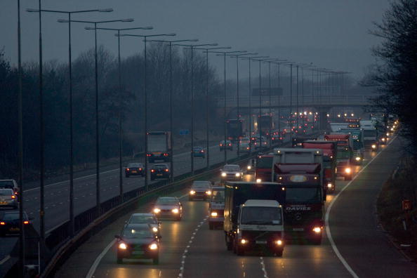 Traffic on the M1 motorway (Tim Graham/Getty images)
