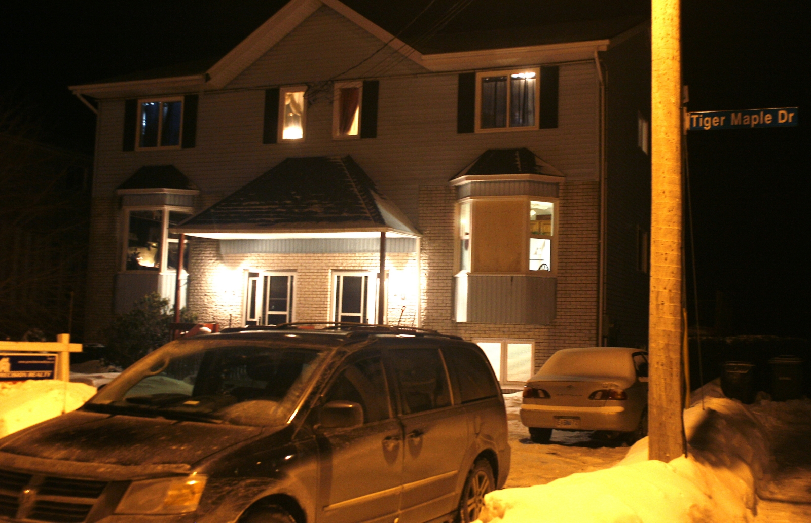 The home in Timberlea, Nova Scotia, where the 19-year-old man was found dead. (Reuters)