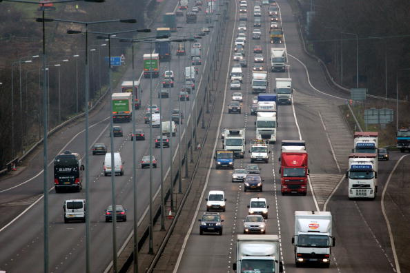 Traffic on the M1 motorway