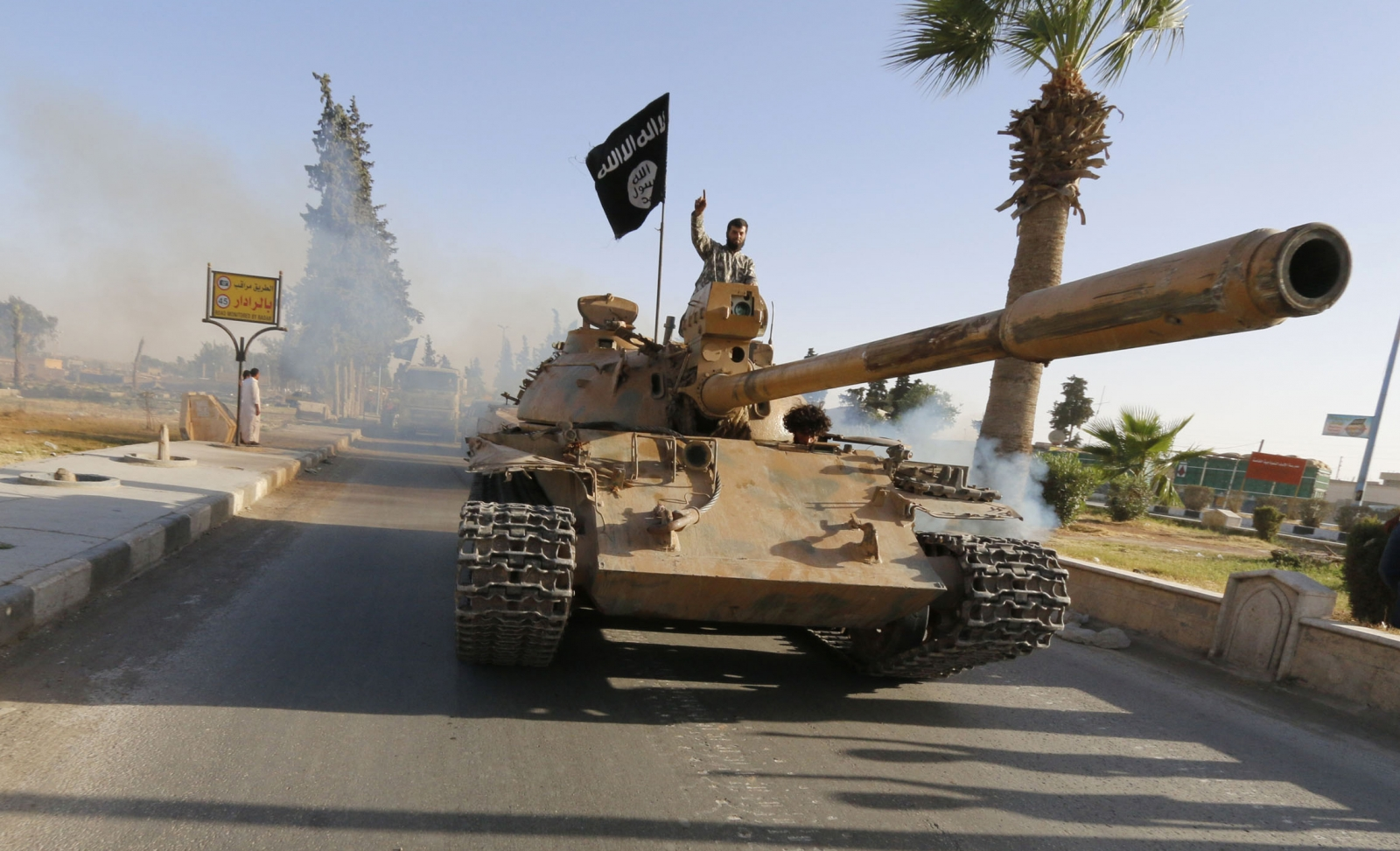 Isis militants in Raqqa