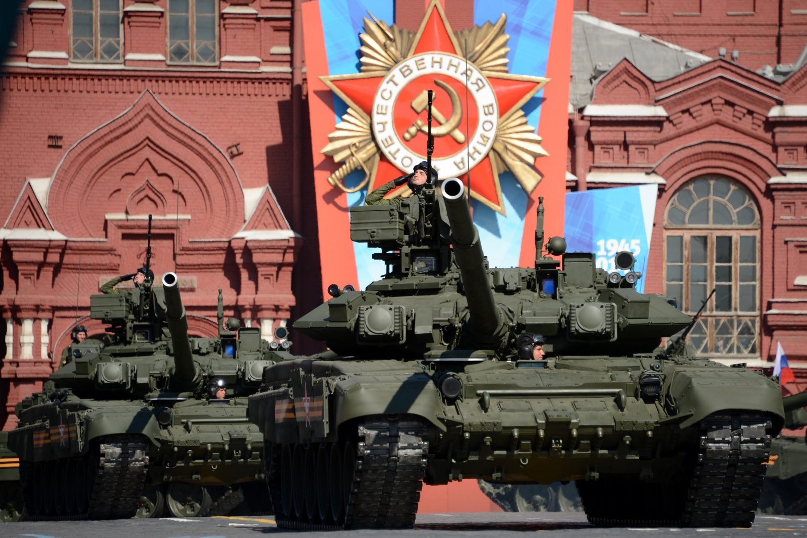 Tanks at lasy year's Victory Day parade in Moscow. (AFP)