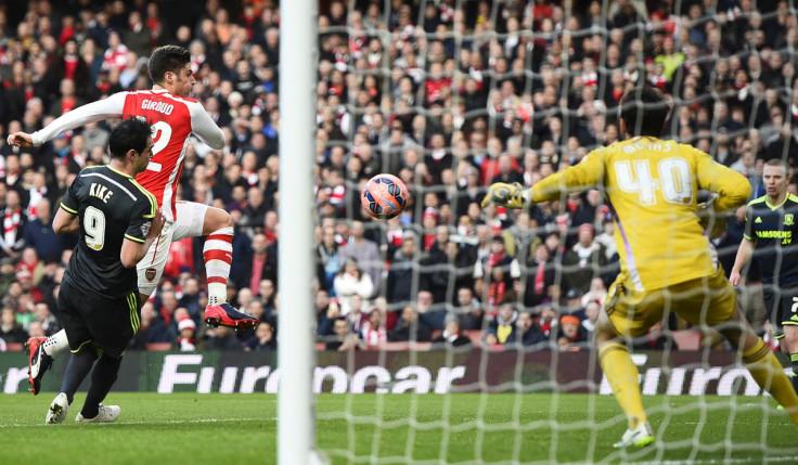 Olivier Giroud Arsenal Middlesbrough Boro Goal