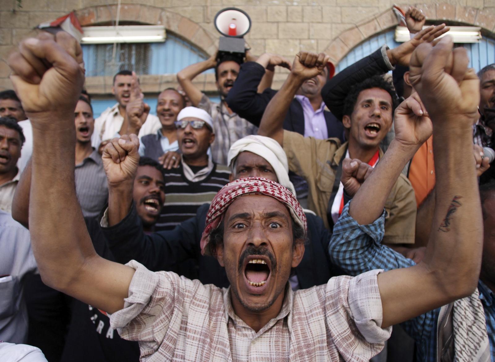 Anti-Houthi protest Yemen