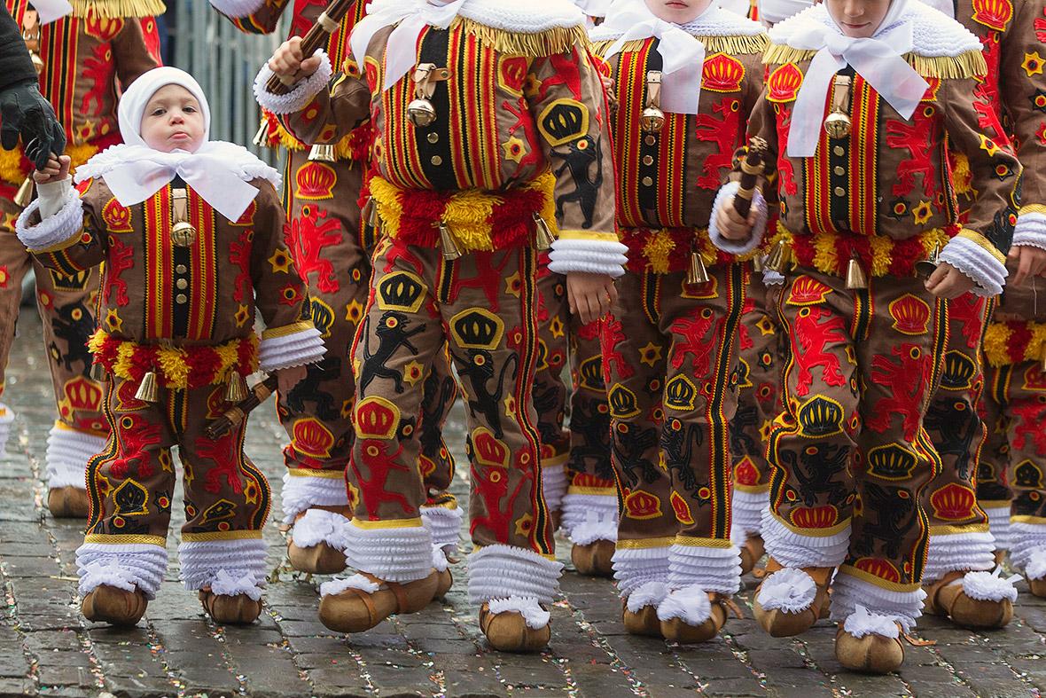 gilles of Binche carnival